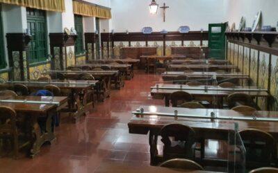 Instalação de divisórias nas mesas dos refeitórios