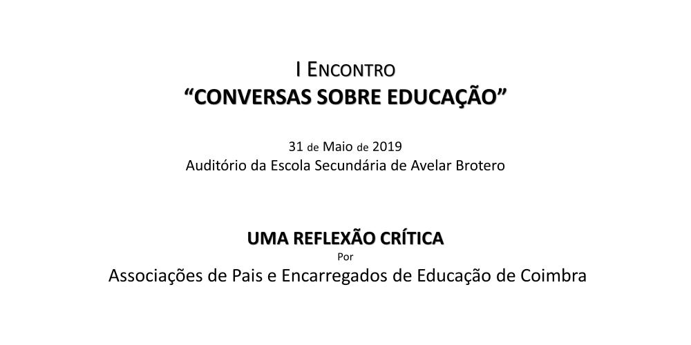 """Participação no I Encontro """"Conversas Sobre Educação"""""""